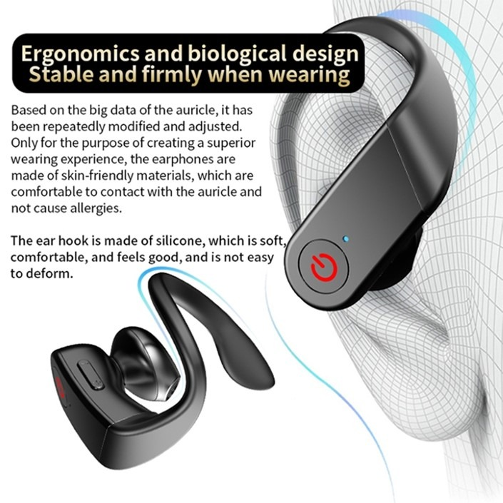 AirPods B10 – Ergonomics and biological design. Stable and firmly when wearing