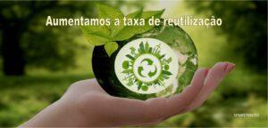 Aumentamos a taxa de reutilização