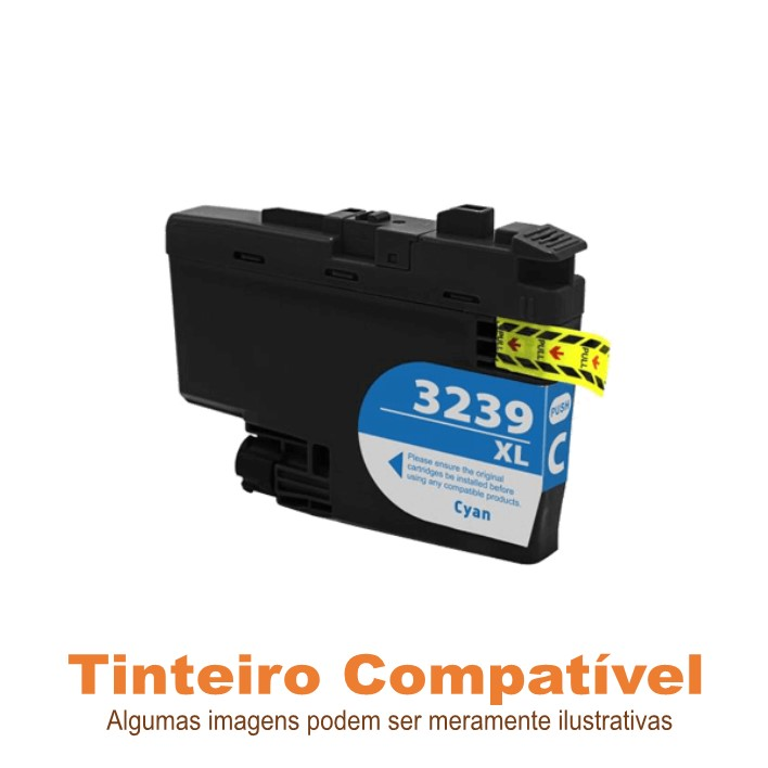 Tinteiro Brother LC3239XLC Cyan Compatível