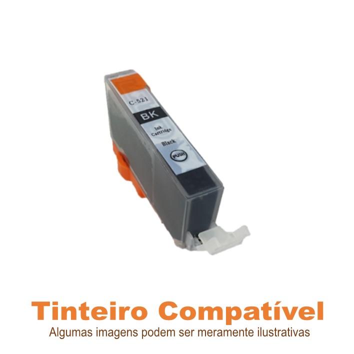Tinteiro Canon CLI521BK Black Compatível