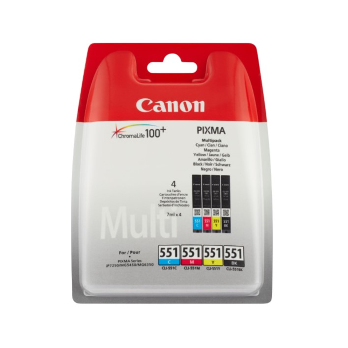 Pack Tinteiros Canon CLI551 BKCMY 4 Colors