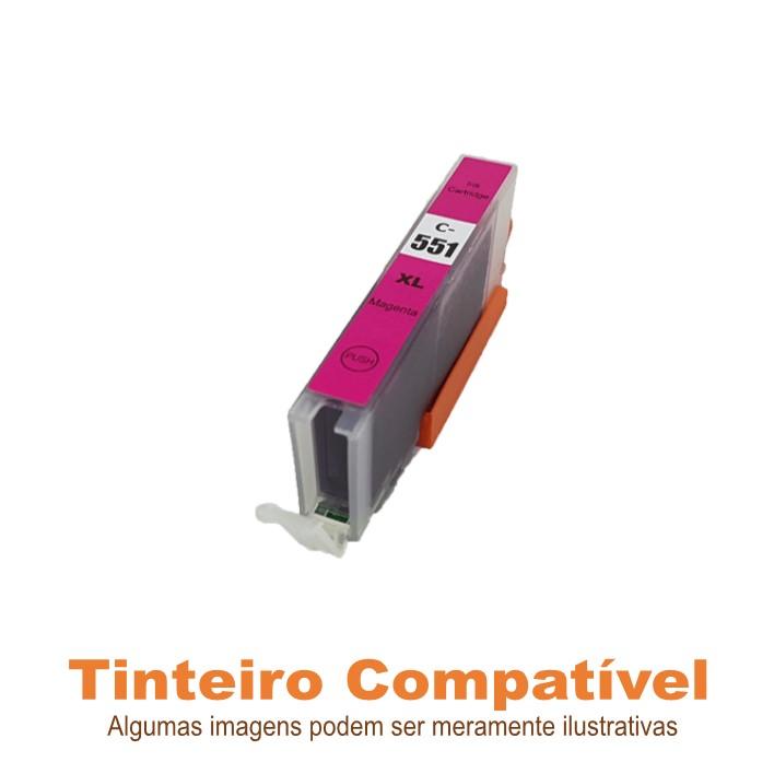 Tinteiro Canon CLI551XLM Magenta Compatível