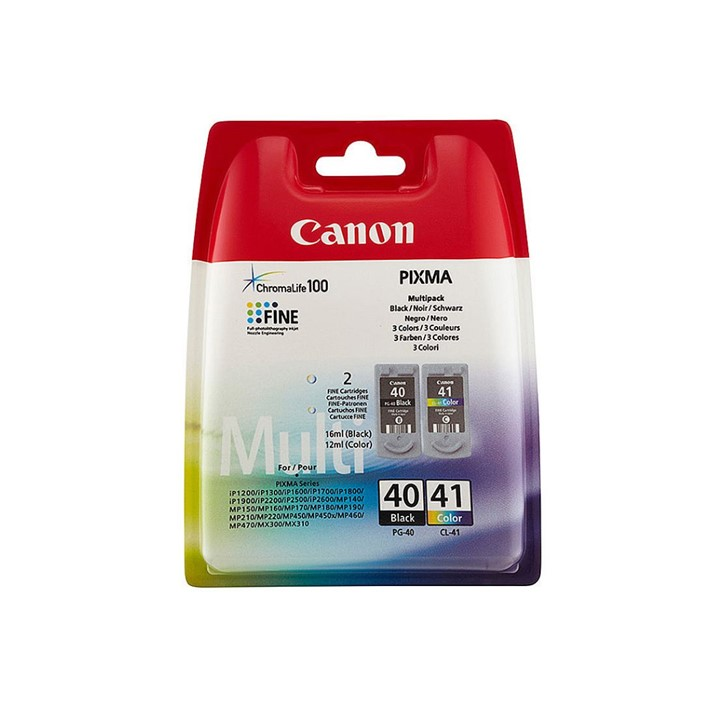Pack Canon PG40 CL41 BKCMY