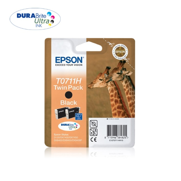 Twin Pack Epson T0711H Black