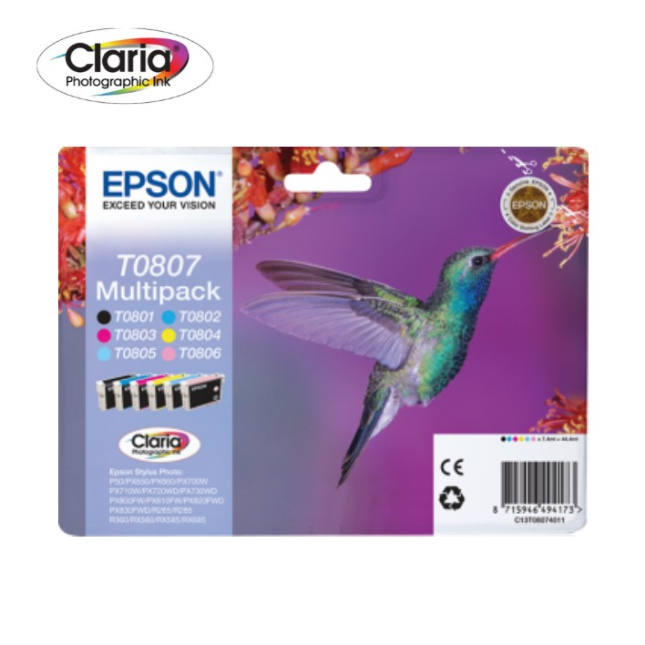 Pack Epson T0807 6 Colors