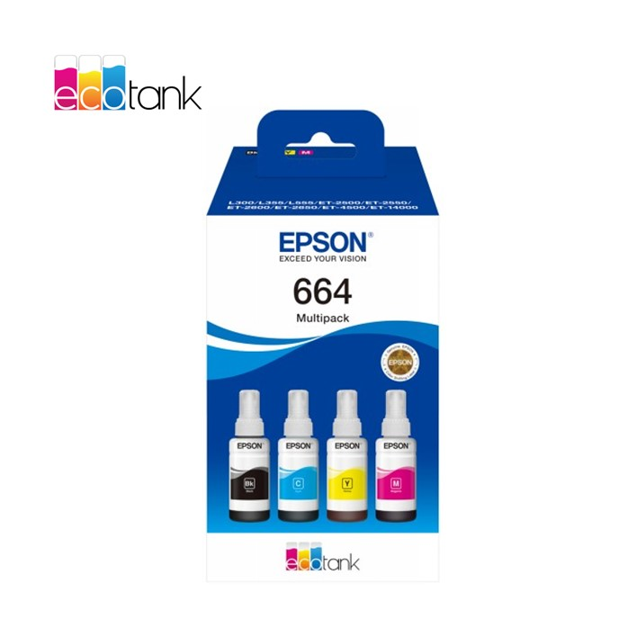 Pack Epson EcoTank 664 Ink Series