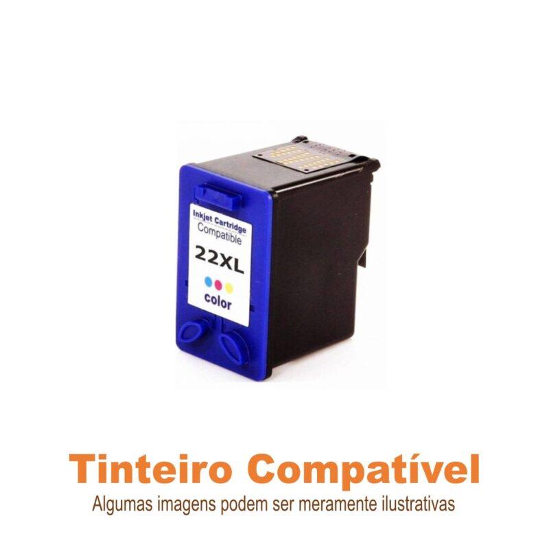Tinteiro HP22xl Tricolor Compatível