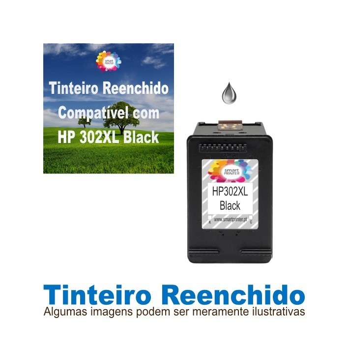Tinteiro HP302XL Black Reenchido