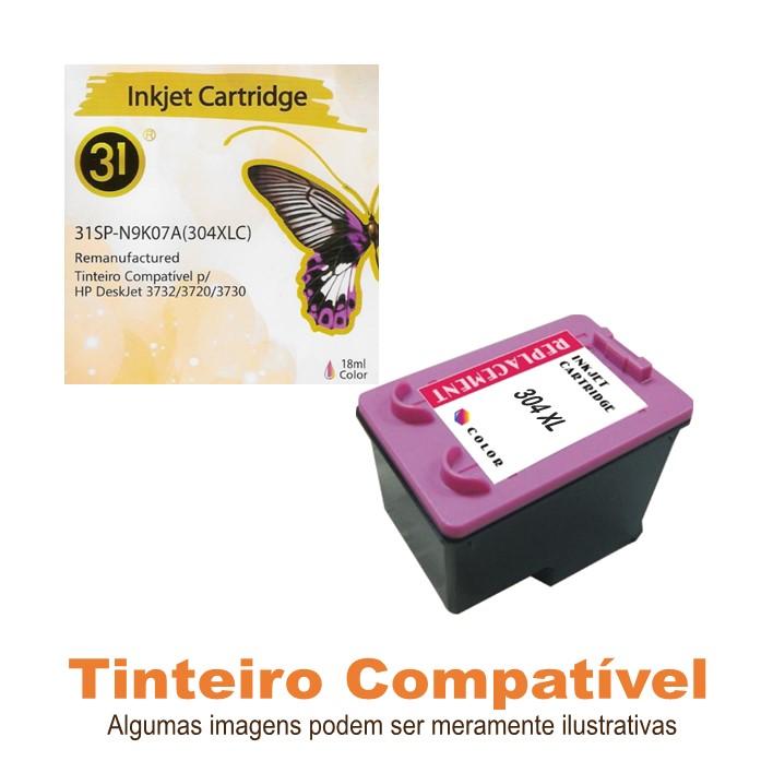 Compatível HP304XL Color Linha31