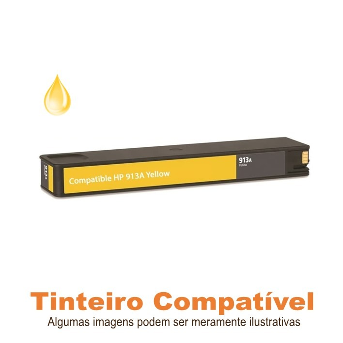 HP 913A Yellow F6T79AE Compatível