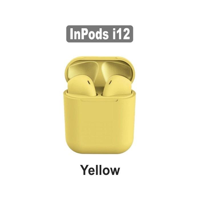 AirPods i12 TWS Yellow - Compatível