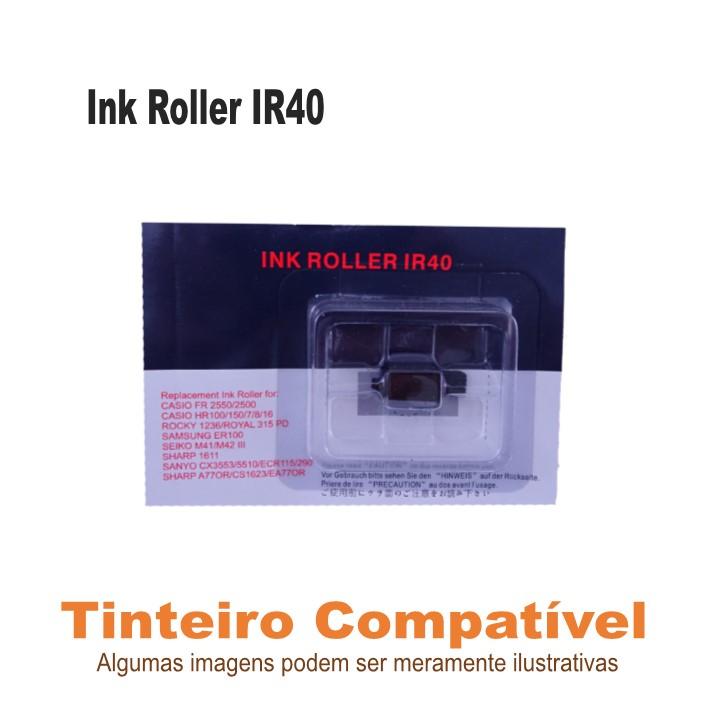 Ink Roller IR40 violeta/preto Compatível