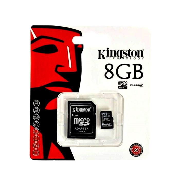 Cartão de memória Micro SDC4 KINGSTON C4 8GB 45MB/s R + Adaptador SD