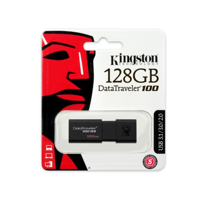 Pen USB KINGSTON DT100G3 128GB Data Traveler 100 - USB 3.1/3.0/2.0