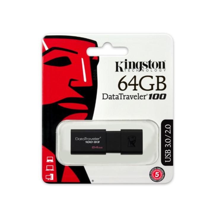 Pen USB KINGSTON DT100G3 64GB Data Traveler 100 - USB 3.1/3.0/2.0