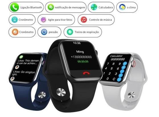 Pulseira Desportiva HW16 Smart Watch Black • Smart Printer